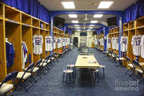 Chicago Cubs Poster featuring the photograph Chicago Cubs Dressing Room by David Bearden