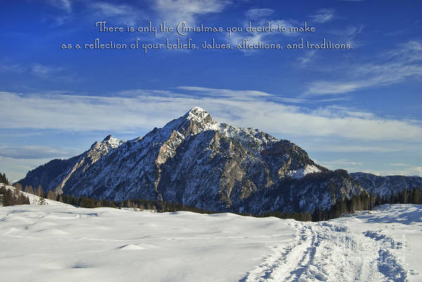 Winter Poster featuring the photograph Christmas In Austria Europe by Sabine Jacobs