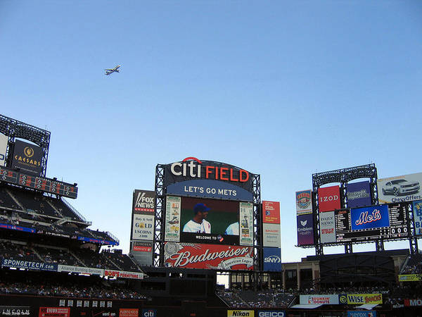 New York Poster featuring the photograph City Field At Queens by Suhas Tavkar