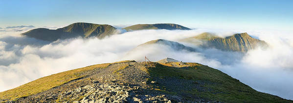 English Poster featuring the photograph Cloudsurfing Grisedale Pike by Stewart Smith