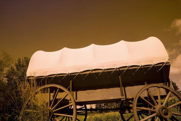 Prairie Poster featuring the photograph Conestoga Wagon by Darren Greenwood