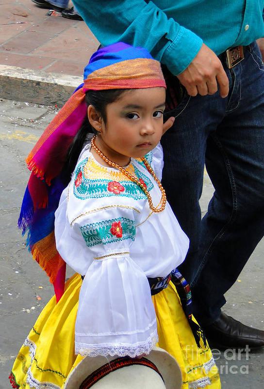 Al Bourassa Poster featuring the photograph Cuenca Kids 5 by Al Bourassa