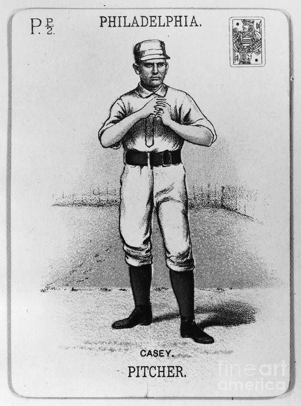 1888 Poster featuring the photograph Dan Casey (1862-1943) by Granger