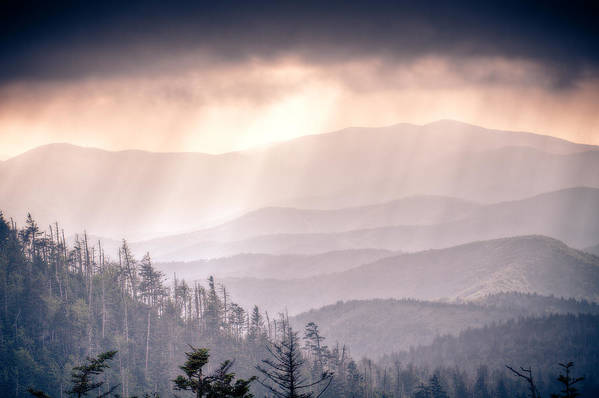 Great Smokey Mountains Poster featuring the photograph Dark Vista Over The Smokys by Pixel Perfect by Michael Moore