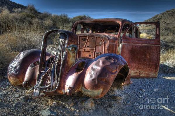 Old Cars Poster featuring the photograph Desert Beauty by Bob Christopher