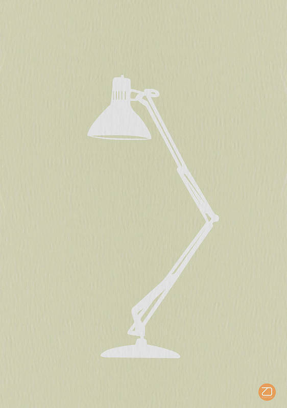 Lamp Poster featuring the drawing Desk Lamp by Naxart Studio