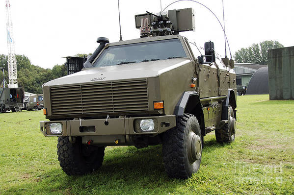 Armament Poster featuring the photograph Dingo II Vehicle Of The Belgian Army by Luc De Jaeger