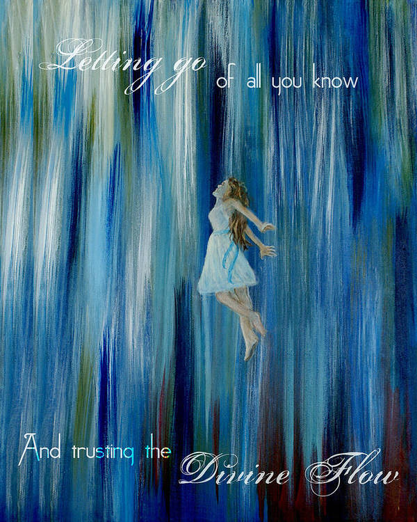 Canvas Angel Print Poster featuring the mixed media Divine Flow by The Art With A Heart By Charlotte Phillips