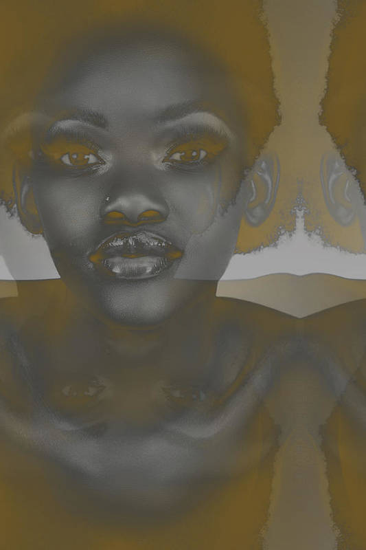 Poster featuring the photograph Ebony by Naxart Studio