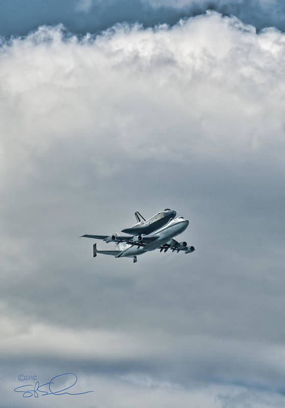 Shuttle Poster featuring the photograph Enterprise 4 by S Paul Sahm