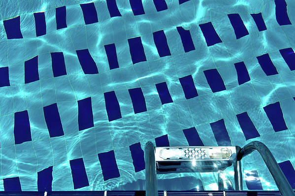Horizontal Poster featuring the photograph Entrance To Pool by Daniel Kulinski
