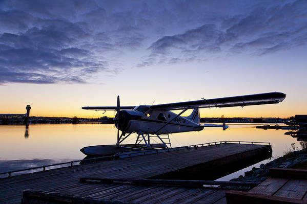 Air Traffic Control Tower Poster featuring the photograph Evening Light On A Dehavilland Beaver by Tim Grams