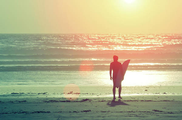 Adult Poster featuring the photograph Evening Surfer by Paul McGee