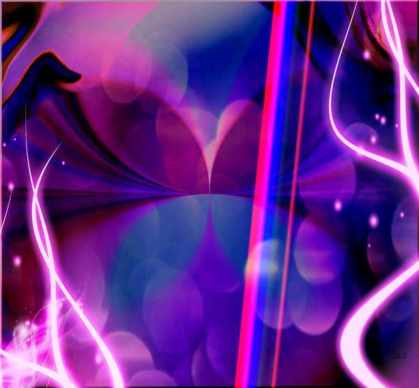 Mixed Media Poster featuring the digital art Fantasy by Jan Steadman-Jackson