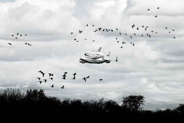Space Shuttle Poster featuring the photograph Final Flight Of The Enterprise by Tolga Cetin