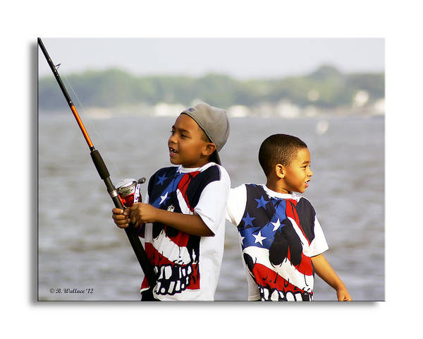 2d Poster featuring the photograph Fishing Brothers by Brian Wallace