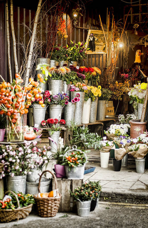 Florist Poster featuring the photograph Flower Shop by Heather Applegate