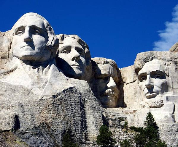 Ymount Rushmore Poster featuring the photograph Fortitude In America by Karen Wiles