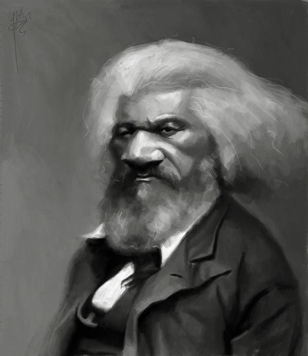 Frederick Douglass Poster featuring the painting Frederick Douglass by Jumaane Sorrells-Adewale