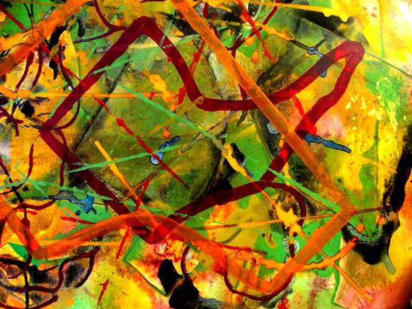 Abstract Poster featuring the painting Free Fall by John Nolan