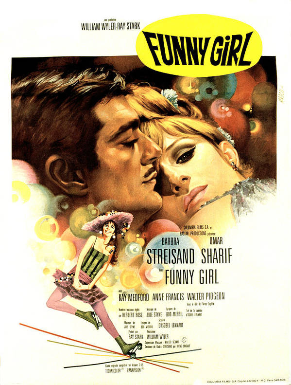 1960s Movies Poster featuring the photograph Funny Girl, Omar Sharif, Barbra by Everett