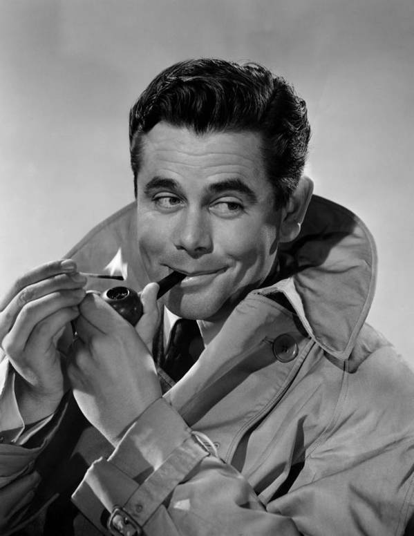 1940s Portraits Poster featuring the photograph Gallant Journey, Glenn Ford, 1946 by Everett