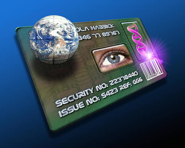 Technology Poster featuring the photograph Global Id Card by Victor Habbick Visions