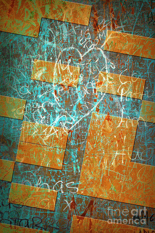 Abstract Poster featuring the photograph Grunge Background 6 by Carlos Caetano