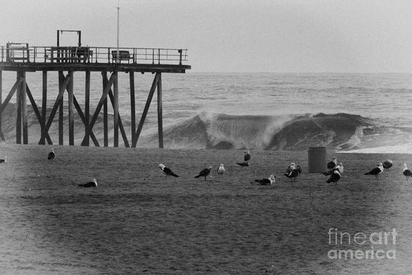 Hdr Poster featuring the photograph Hdr Black White Beach Beaches Ocean Sea Seaview Waves Pier Photos Pictures Photographs Photo Picture by Pictures HDR