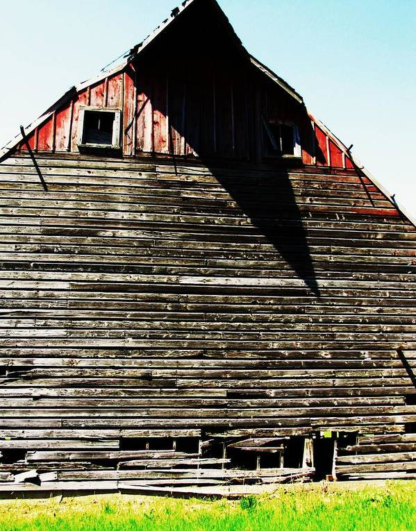 Barn With Shadows Poster featuring the photograph High Noon by Todd Sherlock
