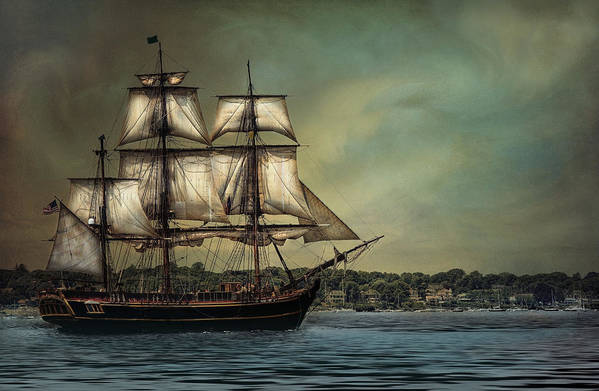 Tall Poster featuring the photograph Hms Bounty by Robin-lee Vieira