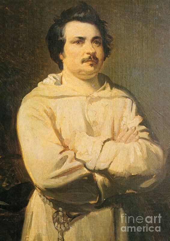 Honore De Balzac Poster featuring the photograph Honore De Balkzac, French Author by Photo Researchers