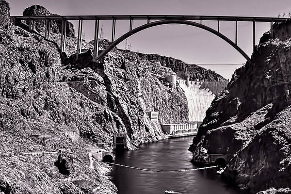 Hoover Dam Poster featuring the pyrography Hoover Dam Bridge by Andre Salvador
