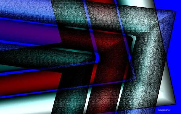 Digital Art Poster featuring the digital art Horizontal Symmetry by Mario Perez