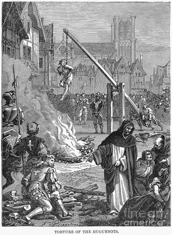 16th Century Poster featuring the photograph Huguenots: Persecution by Granger