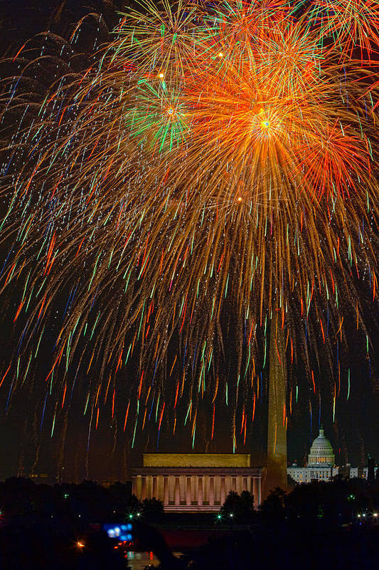 4th Of July Poster featuring the photograph Independence Day In Dc 3 by David Hahn