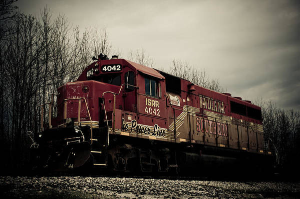 Train Poster featuring the photograph Indiana Southern by Off The Beaten Path Photography - Andrew Alexander