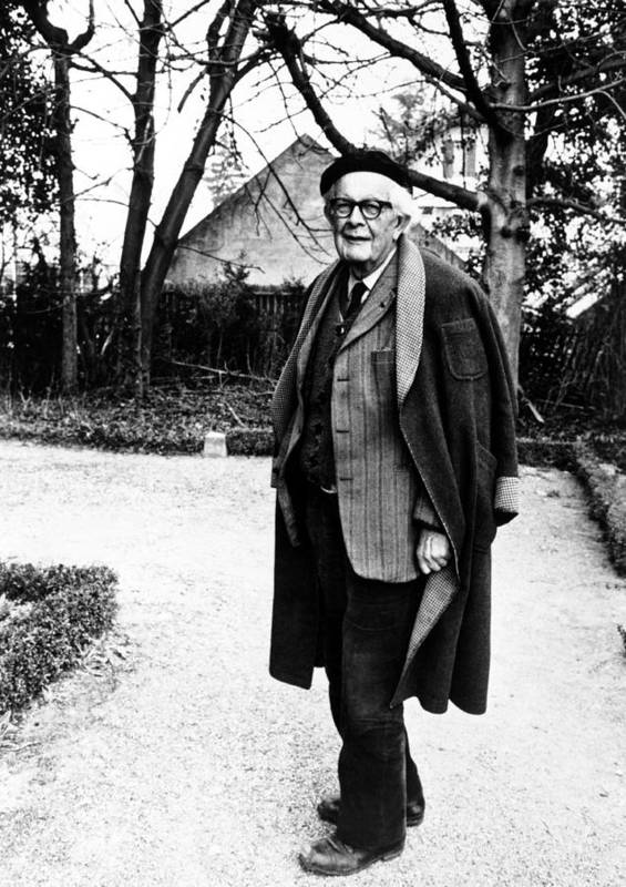 1970s Portraits Poster featuring the photograph Jean Piaget, Author, 1974 by Everett