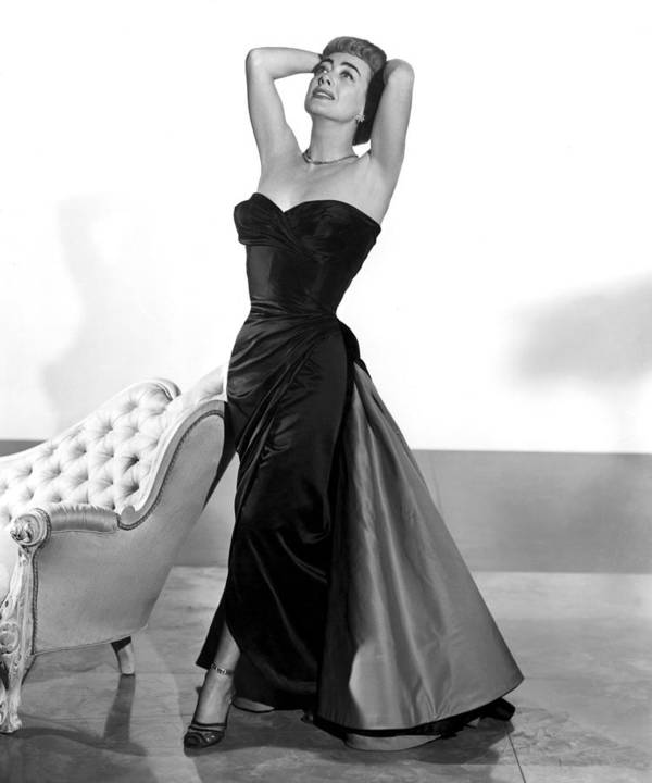 1950s Fashion Poster featuring the photograph Joan Crawford, 1955 by Everett