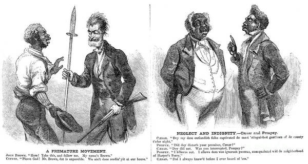 1859 Poster featuring the photograph John Brown Cartoon, 1859 by Granger