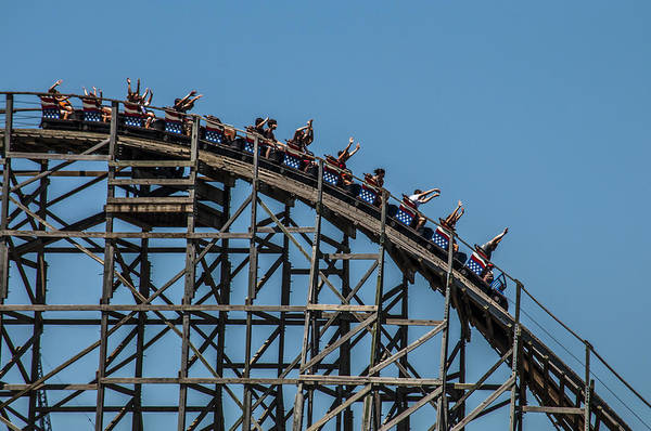 Roller Coaster Poster featuring the photograph Joy Ride by James Bull