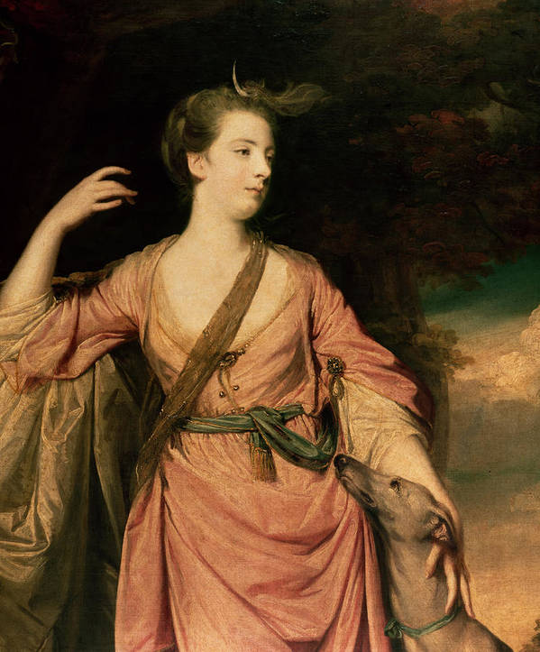 Lady Poster featuring the painting Lady Dawson by Sir Joshua Reynolds