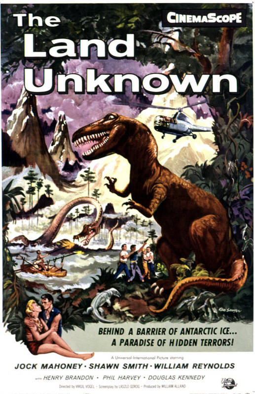 1957 Movies Poster featuring the photograph Land Unknown, The, Shawn Smith, Jock by Everett