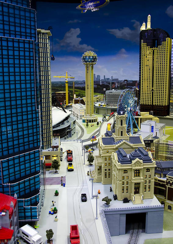 Legoland Poster featuring the photograph Legoland Dallas Iv by Ricky Barnard