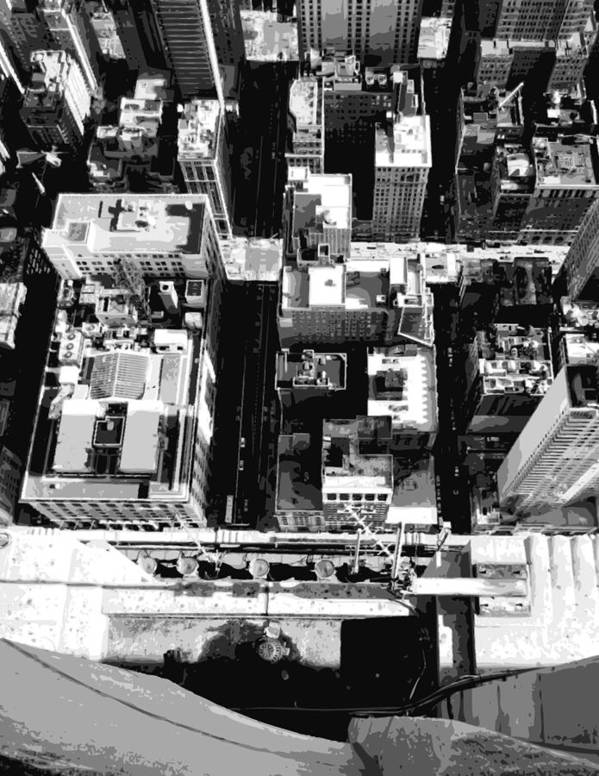Empire State Building Poster featuring the photograph Looking Down Bw8 by Scott Kelley