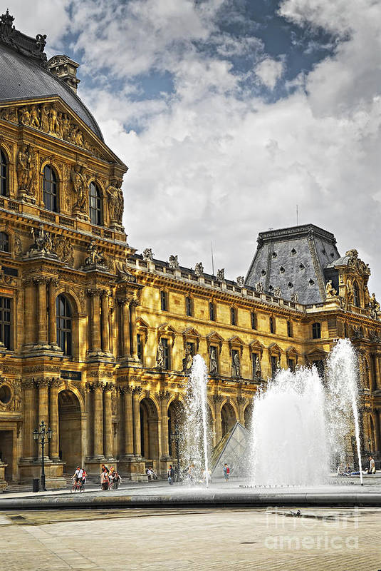Louvre Poster featuring the photograph Louvre by Elena Elisseeva