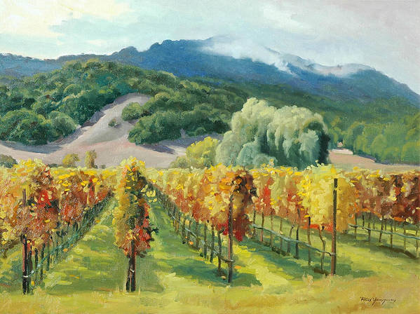 Napa Valley Poster featuring the painting March Of November by Paul Youngman