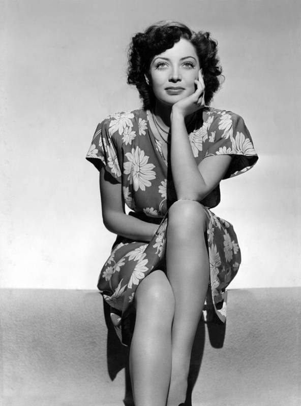 1940s Portraits Poster featuring the photograph Marie Windsor, 1942 by Everett