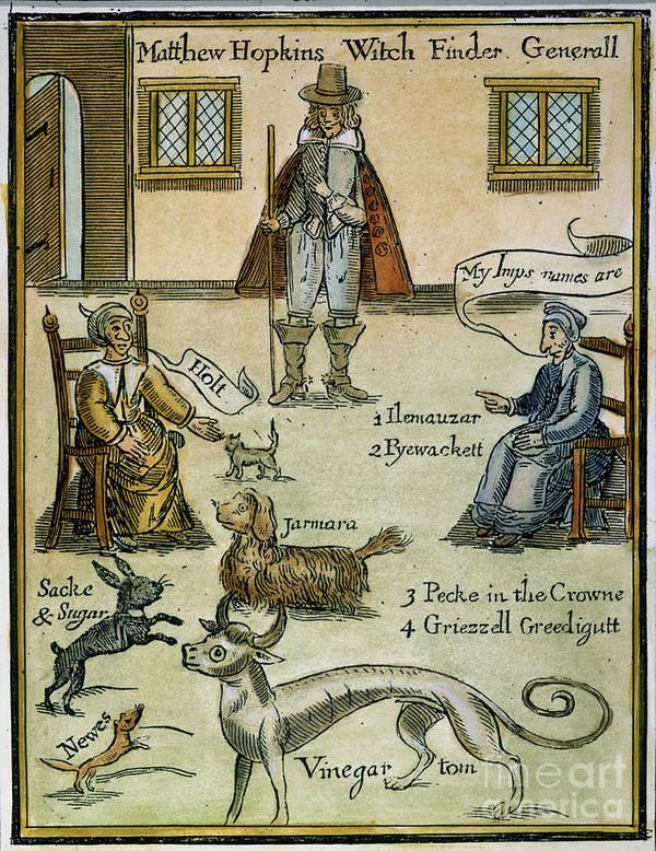 Capture Poster featuring the photograph Matthew Hopkins (d. 1647) by Granger