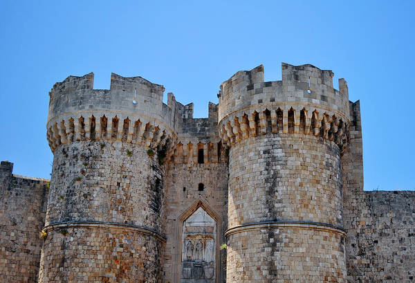 Ancient Poster featuring the photograph Medieval Fortress Of Rhodes. by Fernando Barozza
